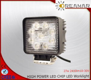 27W Pi68 2400lm 10-30V LED Work Light for Truck 4X4 pictures & photos