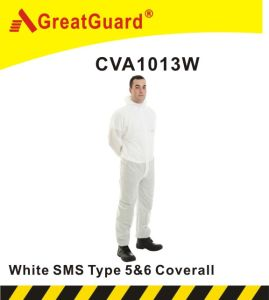 Greatguard Asbesto Removal Type 5&6 SMS Coverall (YF1013B) pictures & photos