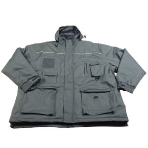 Adult′s Padded Padding Warm Waterproof Polyester Winter Jacket Parka (IC17) pictures & photos