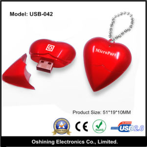 Heart Shape USB Flash Drive 2g, 4G, 8g (USB-042)