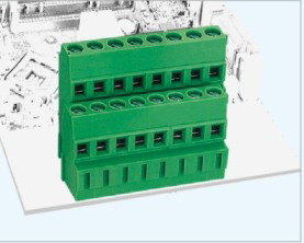 Rising Clamp Terminal Block with 5.0/5.08mm Pitch Two Rows (GS010A2-5.0/5.08)