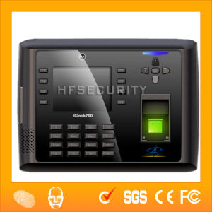 Photo ID Time Attendance with Battery for Showing Image When Scanning Finger Hf-Iclock700