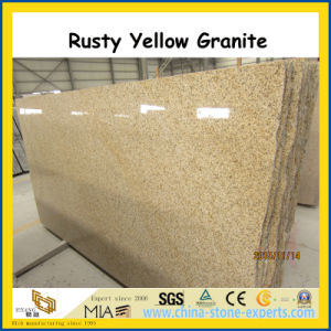 Shandong Rusty Yellow Granite Polished Slabs for Floor / Wall pictures & photos