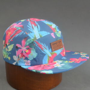 Sublimation Printing Camper Cap with Embossed Leather pictures & photos