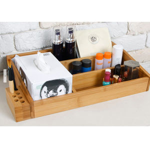 Bamboo Cosmetic Organizer pictures & photos