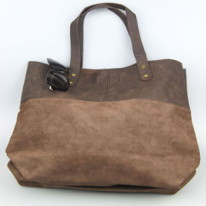 Brown Lady Leaisure PU Hand Bags Fashion Bags Supplier pictures & photos