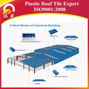 3 Layers Heat Insulation UPVC Corrugated Roofing Sheets pictures & photos