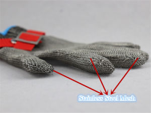Stainless Steel Metal Mesh Cut Resistant Level 5 Glove-2350 pictures & photos