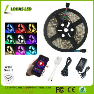 12V DC Waterproof 5050 SMD RGB WiFi Smart LED Strip Light pictures & photos
