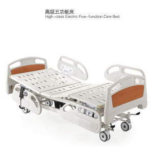 Medical ABS Five Function Electric Hospital Bed pictures & photos