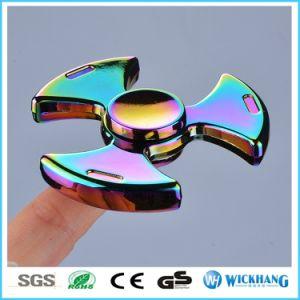 Rainbow Titanium Znic Alloy Tri-Spinner Fidget Hand Finger Spinner Toy EDC pictures & photos