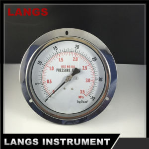 067 150mm All Ss Pressure Gauge with Flange Oil pictures & photos