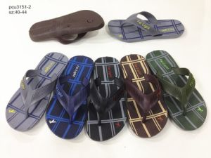 Hotsale Men′s PVC Flip Flops Slippers Beach Sandals (YF-2112) pictures & photos