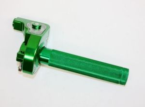 Green CNC Quarter Turn Quick Twist Throttle Housing Grip Pit PRO Trail Dirt Quad Bike