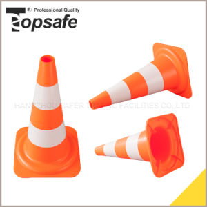 50cm Height Europe Style Orange Color PE Cone with TUV Certificate (S-1207) pictures & photos