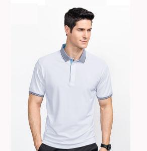 Business Casual Plain Men 95%Cotton 5%Spandex Polo Shirt pictures & photos