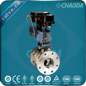 Pneumatic Actuated Flanged V Type Ball Valve pictures & photos