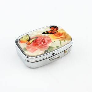 Promotional Gift Portable Mini 2 Slots Pill Box Medical Drug Medicine Storage Case Organizer pictures & photos
