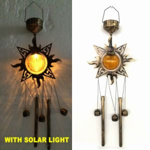 Garden Decoration Glass Ball Solar Lighted Butterfly Windchime pictures & photos