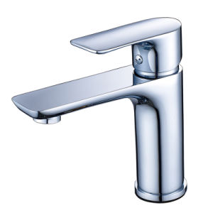 FLG Basin Faucet Chrome Deck Mounted Bathroom Tap pictures & photos