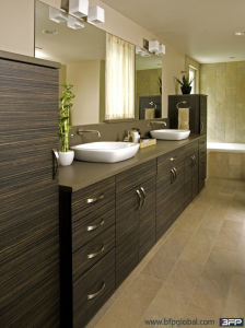 American Style Big Vinly Bathroom Vanity with Pantry for Project Customized pictures & photos