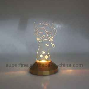 Elegant Safe Romantic Electric Battery Operated Plastic Color Changing Church Acrylic LED Light pictures & photos
