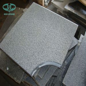 Flamed G654 Impala Dark Granite Tiles for Floor Paving pictures & photos