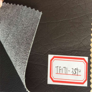 Durable Synthetic PU Leather for Furniture Production Hw-645 pictures & photos