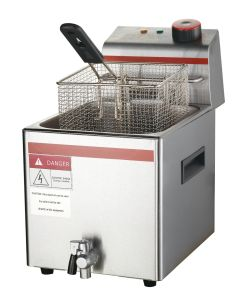 Electric Deep Flat Chicken Fryer with Drain Taps with Ce pictures & photos