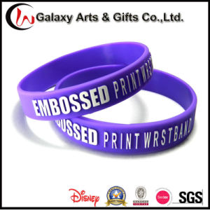 Promotional Cutom Printed Embossed Logo Rubber Sport Silicone Wristband