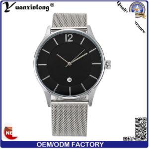 Yxl-388 Fashion Factory Mesh Band Wrist Watch Stainless Steel Case Quartz Bracelet Watches for Men pictures & photos