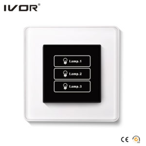 3 Gangs Lighting Switch Touch Panel Glass Outline Frame (HR1000A-GL-L3) pictures & photos