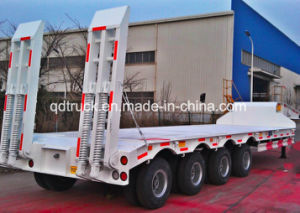 Lowbed semi trailer, low loader trailer, 2/3/4 axles low bed trailer pictures & photos