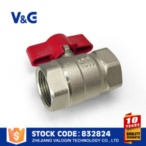 Valogin Brass Ball Water Valve with Nickel Plated pictures & photos