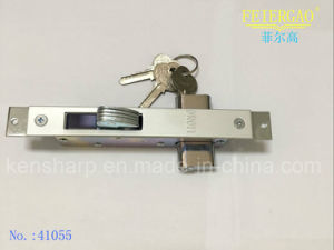 High Quality 41055 Aluminum Sliding Door Key Lock pictures & photos