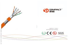 UL, CE, RoHS Apporved Self-Extinguishing SFTP CAT6 Network Cable pictures & photos