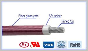 Jgp High Voltage Special Yarn Braid Silicone Rubber Cable pictures & photos