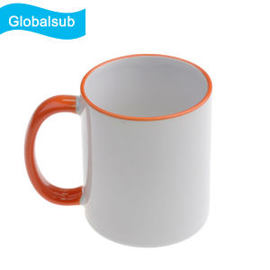 11oz Color Rim Ceramic Mug Sublimation Mug FC-M022 pictures & photos