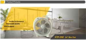 """New Design 14"""" Apple Shape Box Fan with 2 Hours Timer pictures & photos"""