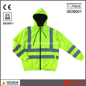 Cheap Green Knitted Safety Reflective Jacket pictures & photos