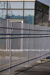 Haohan Basic Shape Classic Industrial Residential Galvanized Steel Fence 46 pictures & photos