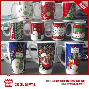 Christmas Promotional Ceramic Mug with Customized Print pictures & photos
