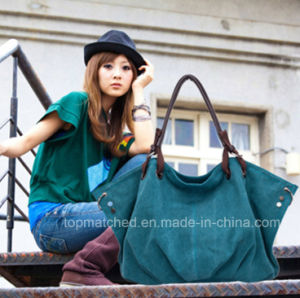Portable Canvas Bag Ladies Casual Canvas Tote Lady Hand Bag pictures & photos