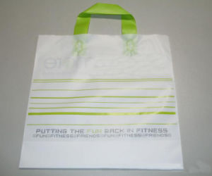 Customized Logo Plastic Shopping Bag with Handle pictures & photos