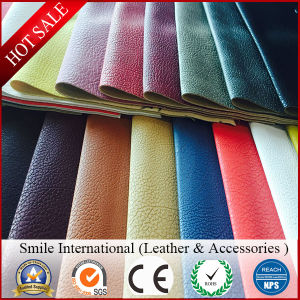 Free Sample PU PVC Synthetic Leather Embossed PVC Sheet Imitation Leather pictures & photos