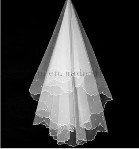 Custom Hot Sale Long White Polyester Wedding Bridal Veil pictures & photos