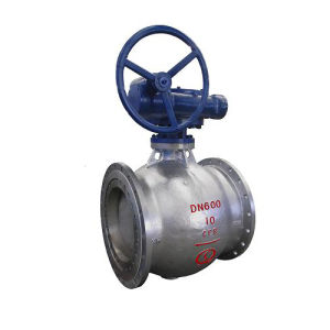 Worm Gear Stainless Steel Semi Ball Valve pictures & photos