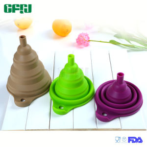 FDA/LFGB Silicone Collapsible Canning Funnel for Liquid and Powder pictures & photos