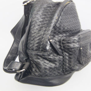 Fashion Bags Supplier Women Fashion Braided PU Backpack School Backpack pictures & photos