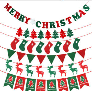 OEM New Product Christmas Rattan Bunting for Hang Decoration pictures & photos